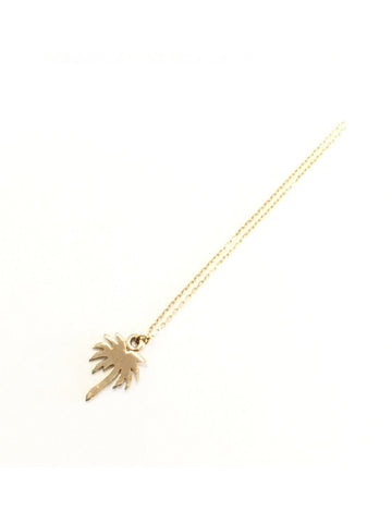 belleza by n 10k necklace palm tree