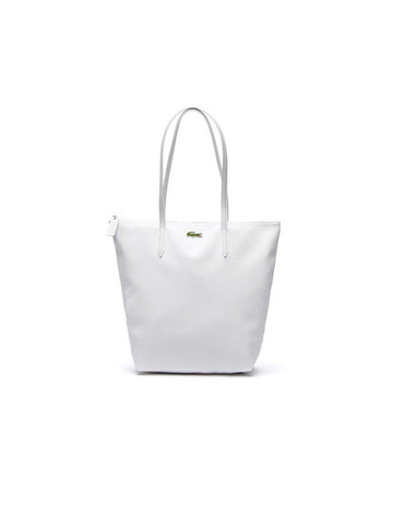 LACOSTE L.12.12 Concept Vertical Zip Tote Bag / White