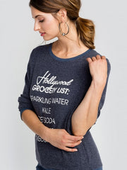 WILDFOX: Hollywood Grocery List Baggy Beach Jumper