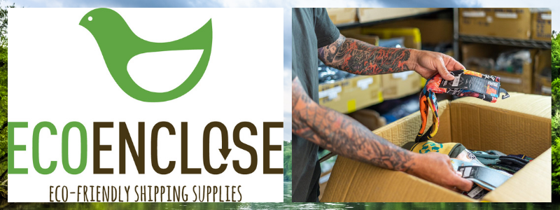 EcoEnclose logo and plastic free packaging