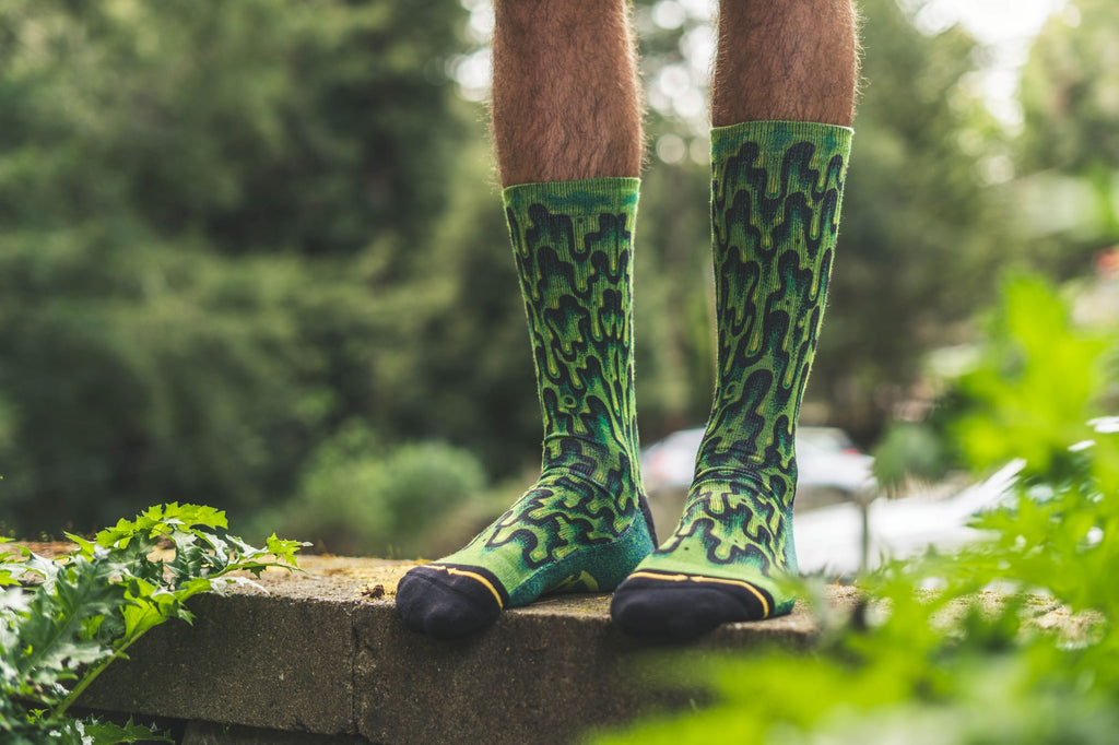Jimbo slime crew socks for men