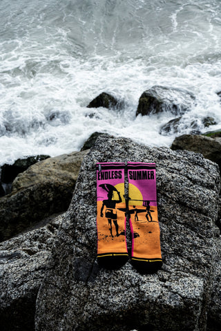 MERGE4 officially licensed Endless Summer crew socks