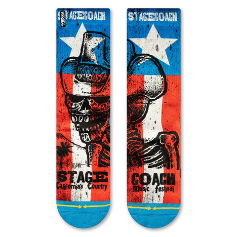 Stagecoach country music festival socks by MERGE4