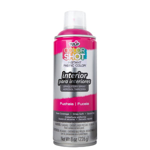 Color Shot Fuchsia Upholstery Fabric Paint (8oz Can)