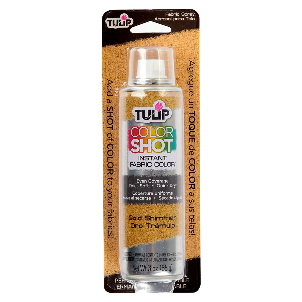 Gold Shimmer - Tulip ColorShot Instant Fabric Color Spray (3oz)