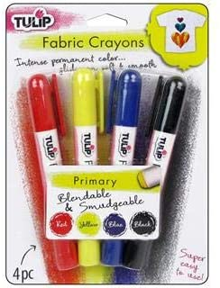 Tulip 4-Pack Fabric Crayons Primary