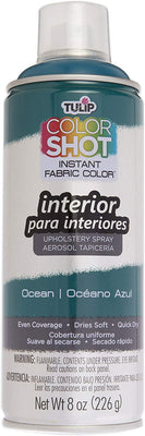 Color Shot Ocean Blue Indoor Upholstery Fabric Paint (8oz Can)