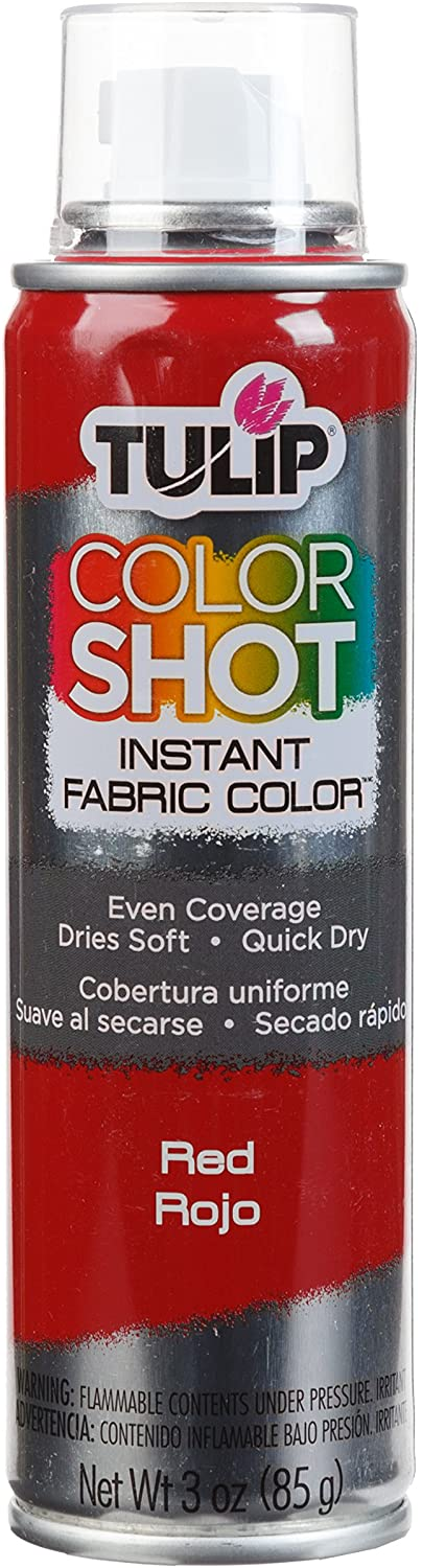 Red - Tulip ColorShot Instant Fabric Color Spray (3oz)