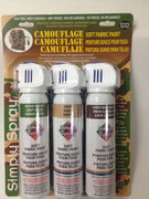 Camouflage Soft Fabric Paint Kit- 3 Cans