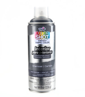 Color Shot Charcoal Gray Indoor Upholstery Fabric Paint (8oz Can)
