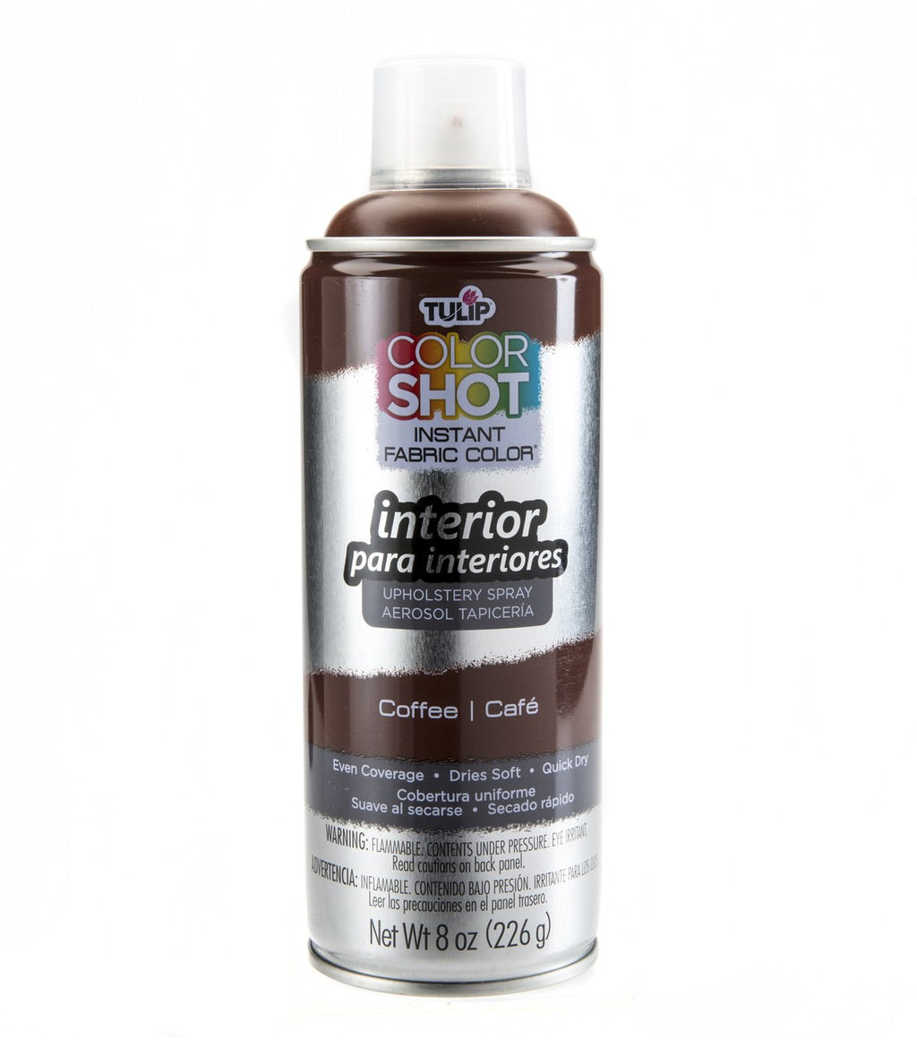 Color Shot Coffee (Brown) Upholstery Fabric Paint (8oz Can)