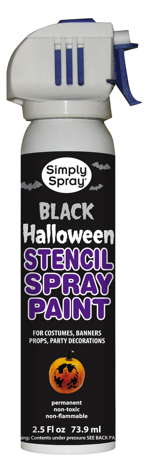 Black Halloween Stencil Paint (2.5oz Can)