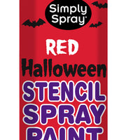 Red Halloween Stencil Paint (2.5oz Can)