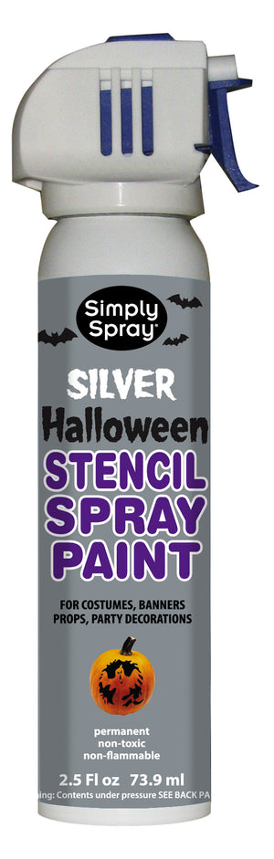 Silver Halloween Stencil Paint (2.5oz Can)