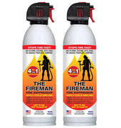 18 oz Can of Fireman- Fire Suppressor 2 Can Pack