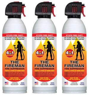 18 oz Can of Fireman- Fire Suppressor 3 can pack BEST VALUE
