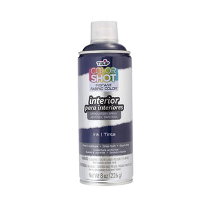 Color Shot Navy Blue Indoor Upholstery Fabric Paint (8oz Can)