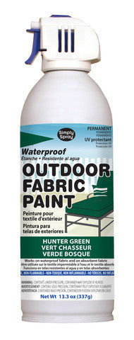 Hunter Green Outdoor Fabric Paint- 13.3 oz cans