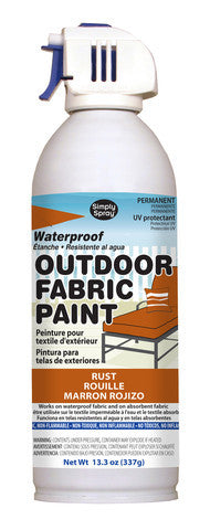 Rust Outdoor Fabric Paint