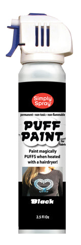 Black Puff Paint (2.5oz Can)