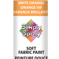 Brite Orange Soft Fabric Paint (2.5oz Can)