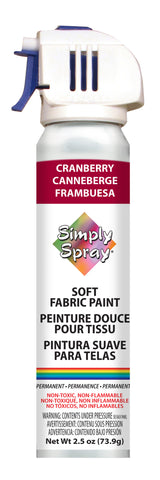 Cranberry Simply Spray Fabric Paint