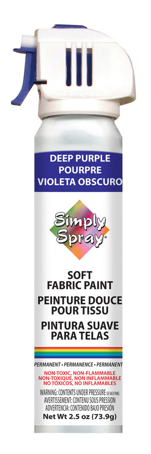 Deep Purple Soft Fabric Paint (2.5oz Can)
