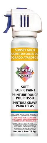 Sunset Gold Soft Fabric Paint (2.5oz Can)