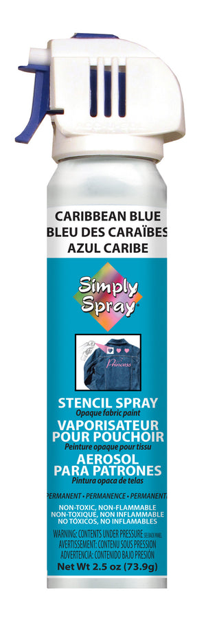 Caribbean Blue Stencil Paint (2.5oz Can)