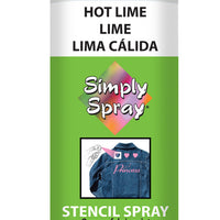 Hot Lime Stencil Paint (2.5oz Can)