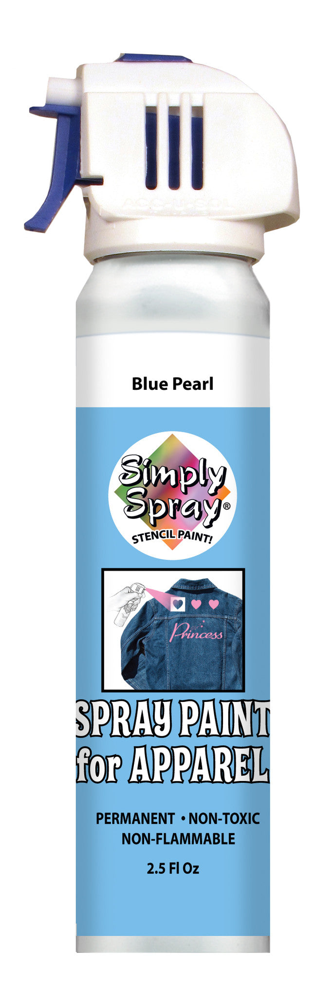 Blue Pearl Stencil Paint (2.5oz Can)