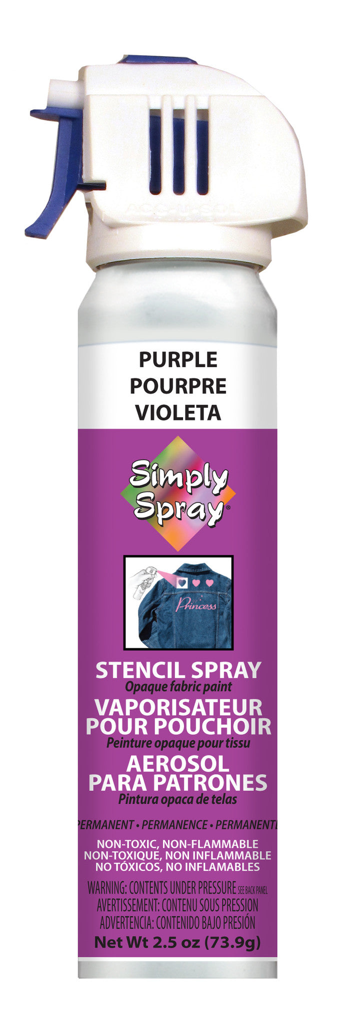 Purple Stencil Paint (2.5oz Can)