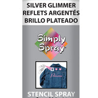 Silver Glimmer Stencil Paint (2.5oz Can)