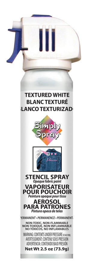 Textured White Stencil Paint (2.5oz Can)