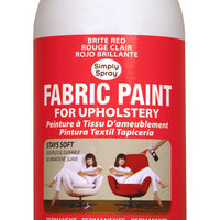 Brite Red Upholstery Fabric Paint (8oz Can)