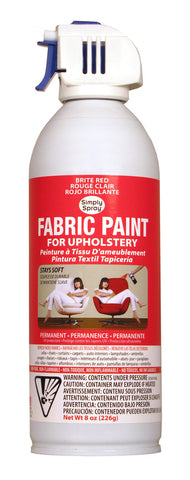 Brite Red Upholstery Fabric Paint