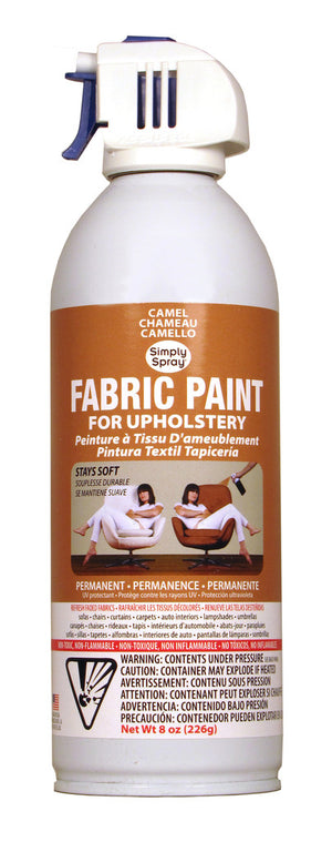 Camel Upholstery Fabric Paint (8oz Can)