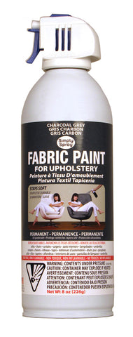 Charcoal Grey Upholstery Fabric Paint