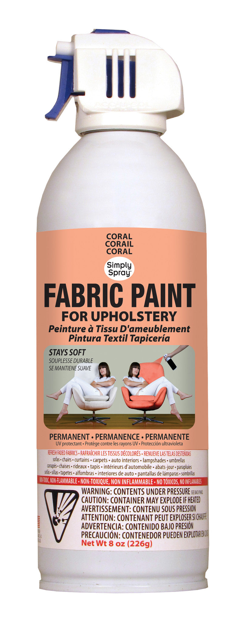 Coral Upholstery Fabric Paint (8oz Can)