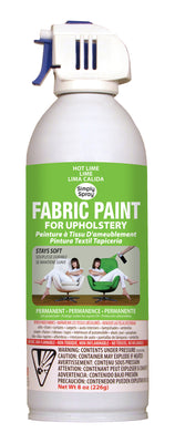 Hot Lime Upholstery Fabric Paint (8oz Can)