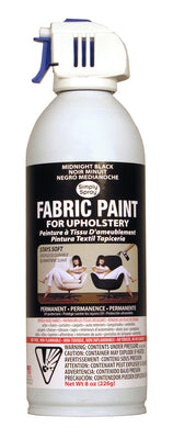 Midnight Black Upholstery Fabric Paint (8oz Can)