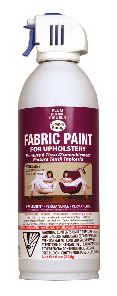Plum Upholstery Fabric Paint (8oz Can)