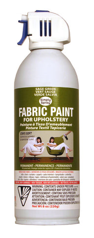 Sage Green Upholstery Fabric Paint (8oz Can)