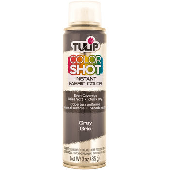 Gray - Tulip ColorShot Instant Fabric Color Spray (3oz)