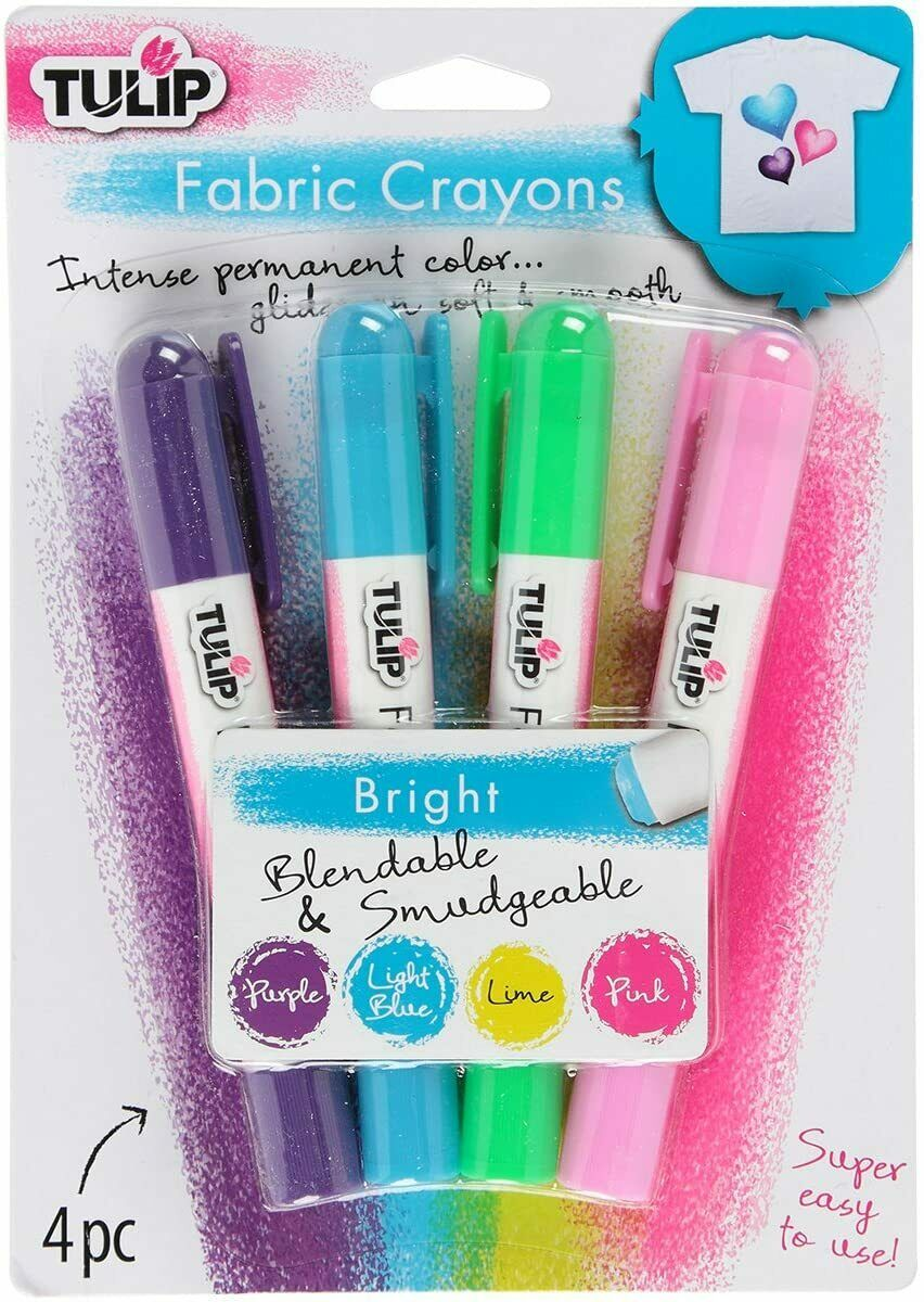 Tulip 4-Pack Fabric Crayons Bright