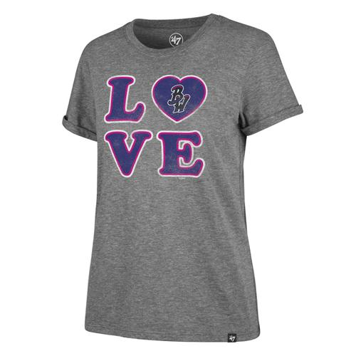 Pensacola Blue Wahoos 47 Women's Love Tee