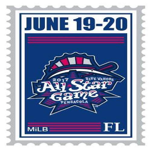 Pensacola Blue Wahoos All Star Stamp Pin