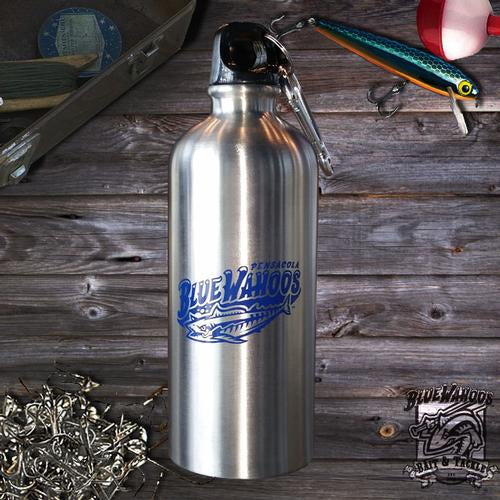 Pensacola Blue Wahoos Stainless Steel Blue Wahoos Water Bottle