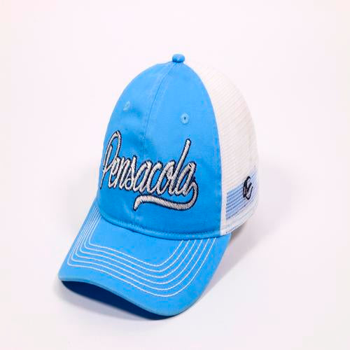 Pensacola Blue Wahoos Ladies Jackie Mesh Adjustable Cap