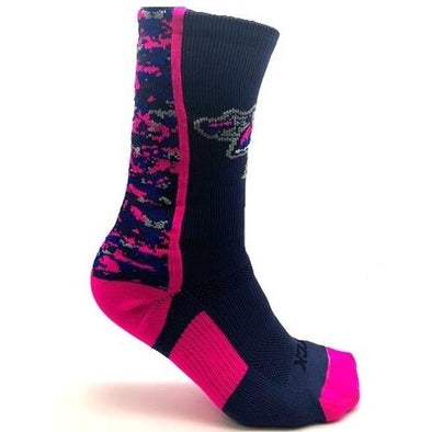 Pensacola Blue Wahoos Twin City Knitting Digital Camo Sock
